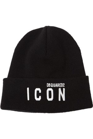 Dsquared2 Mænd Huer - Icon Patch Wool Knit Beanie