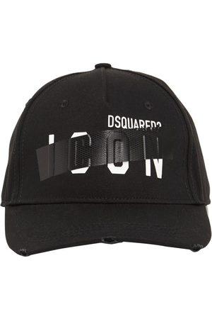 Dsquared2 Mænd Kasketter - Icon Taped Cotton Gabardine Cap