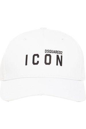 Dsquared2 Mænd Kasketter - Icon Thick Print Cotton Gabardine Cap