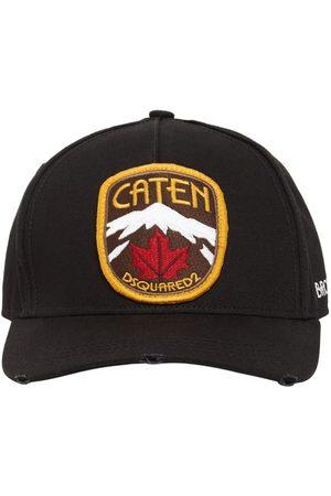 Dsquared2 Mænd Kasketter - Patch Cotton Gabardine Cap