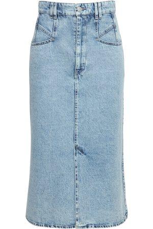 Isabel Marant Dipoma Cotton Denim Midi Skirt