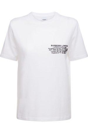 Burberry Kvinder Kortærmede - Jemma Cotton Jersey T-shirt