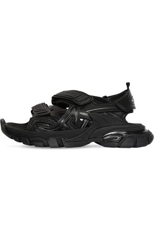 Balenciaga Kvinder Sandaler - 30mm Track Faux Leather & Nylon Sandals