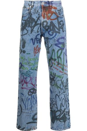 Vetements Mænd Straight - Graffiti-print straight-leg jeans