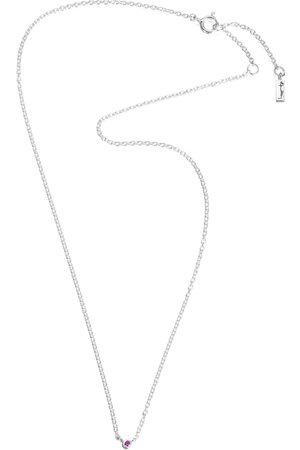 Efva Attling Kvinder Halskæder - Micro Blink Necklace - Pink Sapphire Accessories Jewellery Necklaces Dainty Necklaces