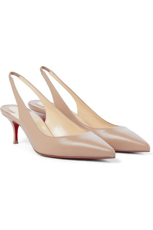 Christian Louboutin Clare Sling 80 leather pumps