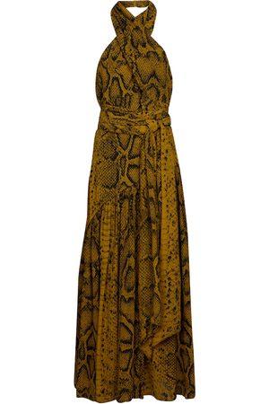 Proenza Schouler Snake-print crêpe midi dress
