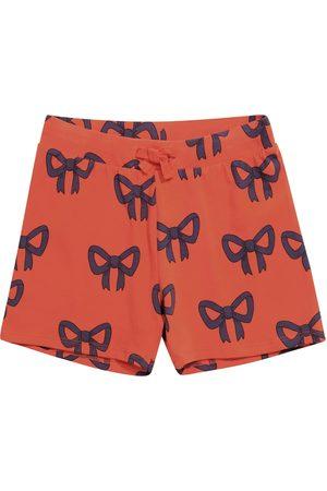 Mini Rodini Bow stretch-cotton shorts