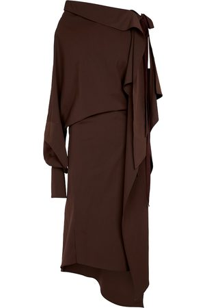 PETAR PETROV Aaber asymmetric midi dress