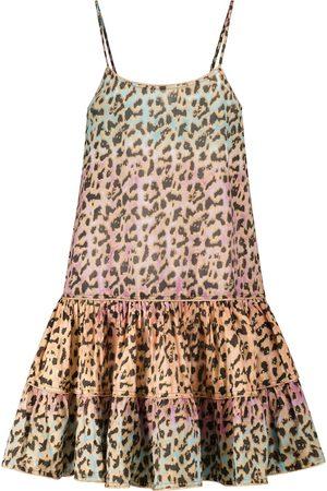 Juliet Dunn Exclusive to Mytheresa – Leopard-print cotton minidress