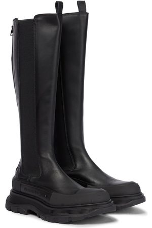 Alexander McQueen Tread leather knee-high boots