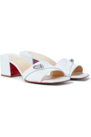 Christian Louboutin Lock Art 55 leather sandals