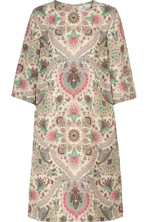 Etro Paisley stretch-cady midi dress