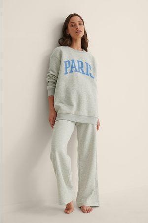 NA-KD Kvinder Sweatshirts - Økologisk Sweatshirt Med Byprint