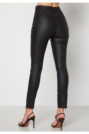 BUBBLEROOM Kvinder Leggings - Brienne coated zip leggings Black 36