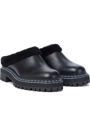 Proenza Schouler Shearling-lined leather slippers