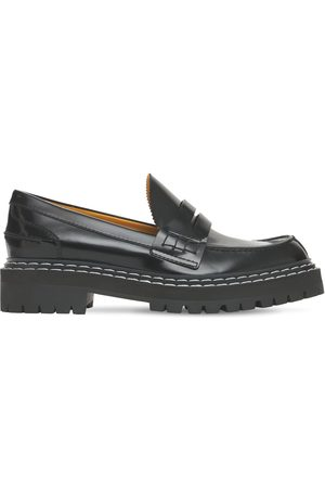 Proenza Schouler 30mm Lug Brushed Leather Loafers