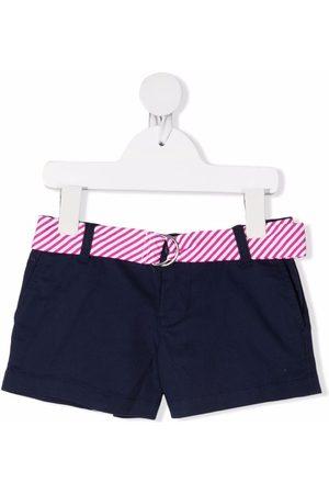 Ralph Lauren Piger Shorts - Shorts i strækbar bomuld med bælte