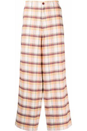 UNDERCOVER Mænd Kassebukser - Ternede bukser med brede ben