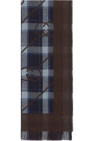 Gucci Mænd Tørklæder - Ternet tørklæde med Interlocking G-tryk