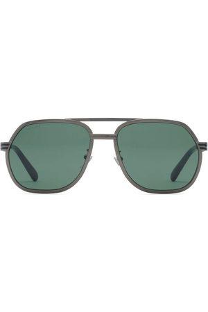 Gucci Aviator-solbriller med dobbelt næsebro