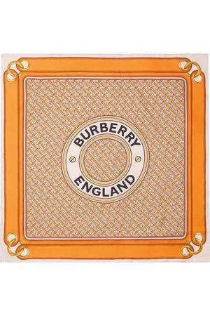 Burberry Silketørklæde med Montage-tryk