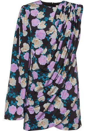 GIUSEPPE DI MORABITO Printed Silk Crepe One Sleeve Mini Dress