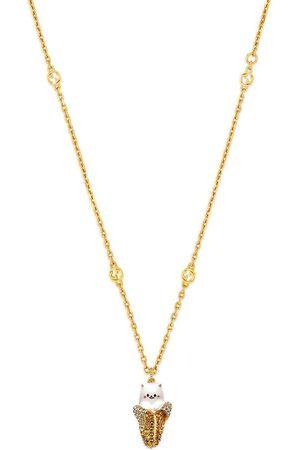 Gucci Mænd Halskæder - X Bananya gold-tone crystal-embellished necklace