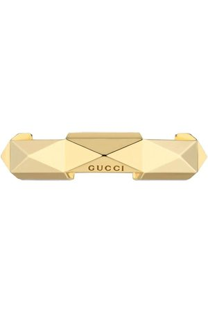 Gucci Ringe - 18kt yellow gold Link to Love studded ring