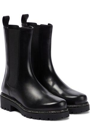 RENÉ CAOVILLA Kvinder Ankelstøvler - Bika embellished leather Chelsea boots