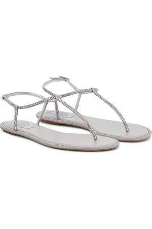 RENÉ CAOVILLA Amalia embellished thong sandals