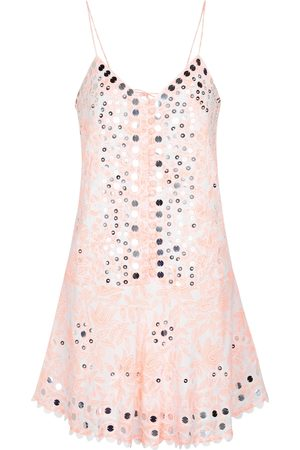 Juliet Dunn Sequined cotton minidress