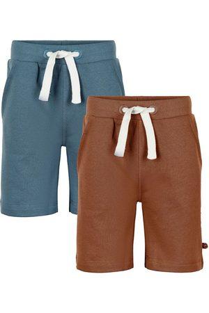 Minymo Shorts - Shorts - 2-pak - Toffee/Aquagrøn