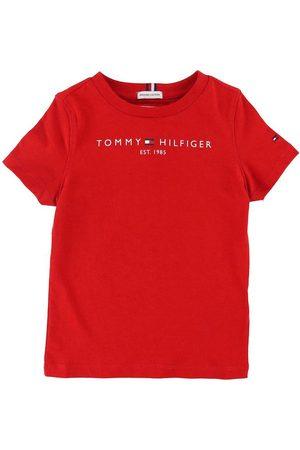 Tommy Hilfiger Kortærmede - T-shirt - Essential - Organic - Deep Crimson