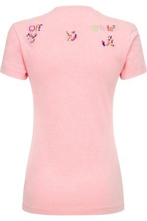 OFF-WHITE Kvinder Kortærmede - Lvr Exclusive Ribbed Cotton T-shirt