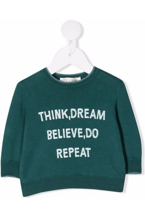 Zhoe & Tobiah Baby Sweatshirts - Slogan-print cotton jumper