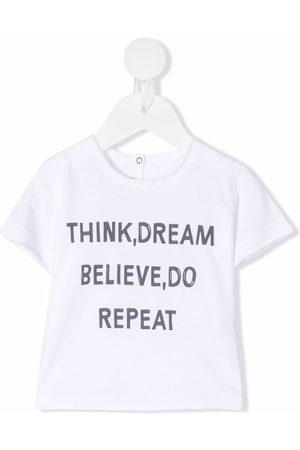 Zhoe & Tobiah Baby Kortærmede - Slogan-print cotton T-shirt