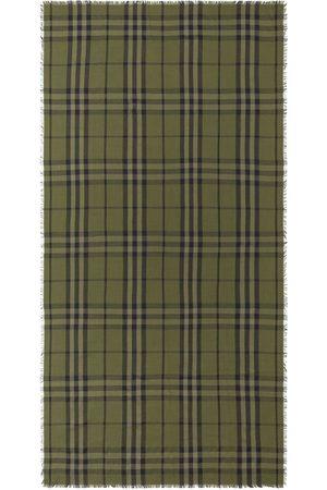 Burberry Tørklæder - Ternet tørklæde med frynser
