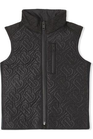 Burberry Drenge Veste - Quiltet vest med monogram-motiv
