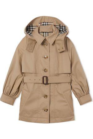 Burberry Piger Trenchcoats - Trenchcoat med aftagelig hætte