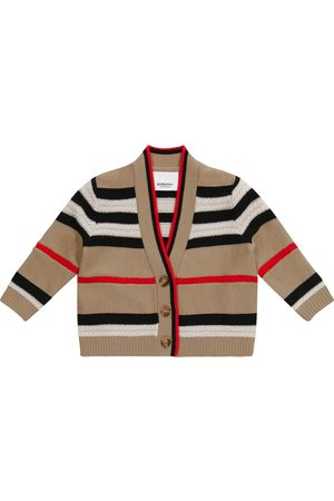 Burberry Baby Icon Stripe wool and cashmere cardigan