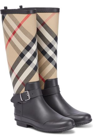 Burberry House Check rubber rain boots