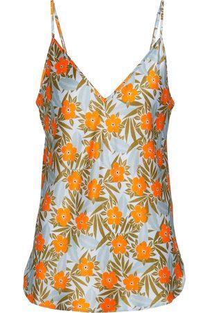 Lee Mathews Stella floral silk satin camisole