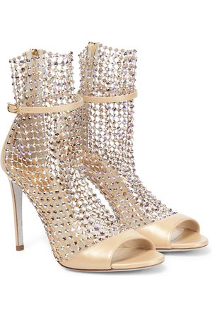 RENÉ CAOVILLA Galaxia embellished leather sandals