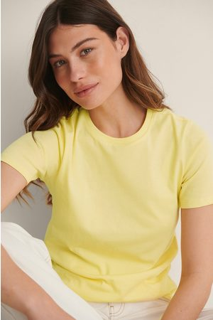 NA-KD Kvinder Kortærmede - T-Shirt I Økologisk Bomuld Med Rund Hals
