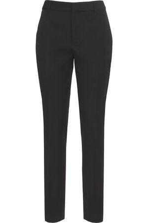 SAINT LAURENT Kvinder Blazere - Straight Wool Tuxedo Pants