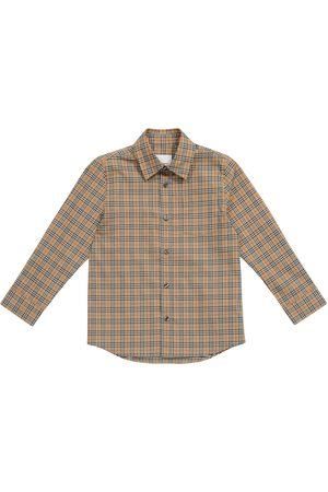 Burberry Kids Archive Check stretch-cotton shirt