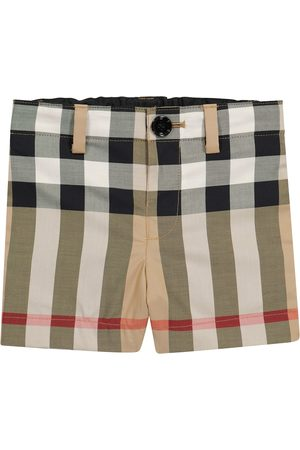 Burberry Kids Baby checked stretch-cotton shorts