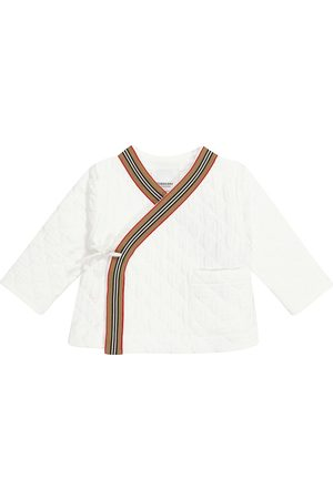 Burberry Kids Archive Striped quilted cotton jacket