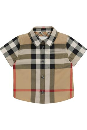 Burberry Baby Vintage Check stretch-cotton shirt